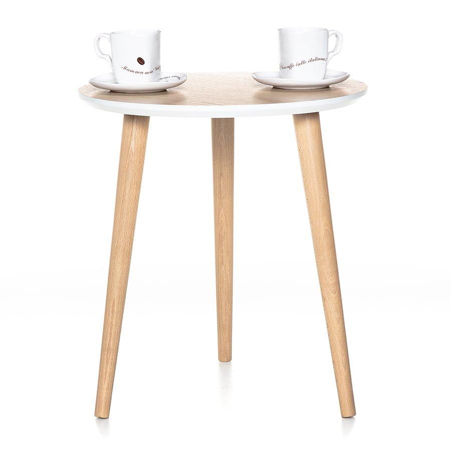 Stolik kawowy na nogach bukowych, drewnianych